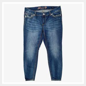 Seven7 Distressed Skinny Legging Jeans 18